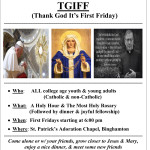 COMI Young Adult Group TGIFF @ St. Patrick